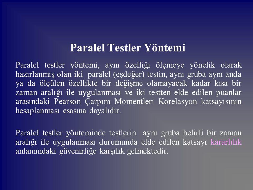 Paralel Testler Yöntemi