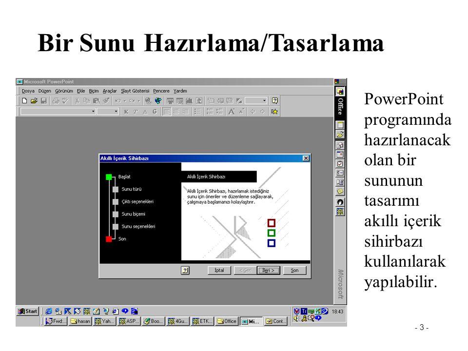 Powerpoint Bir Sunu Hazırlama/Tasarlama