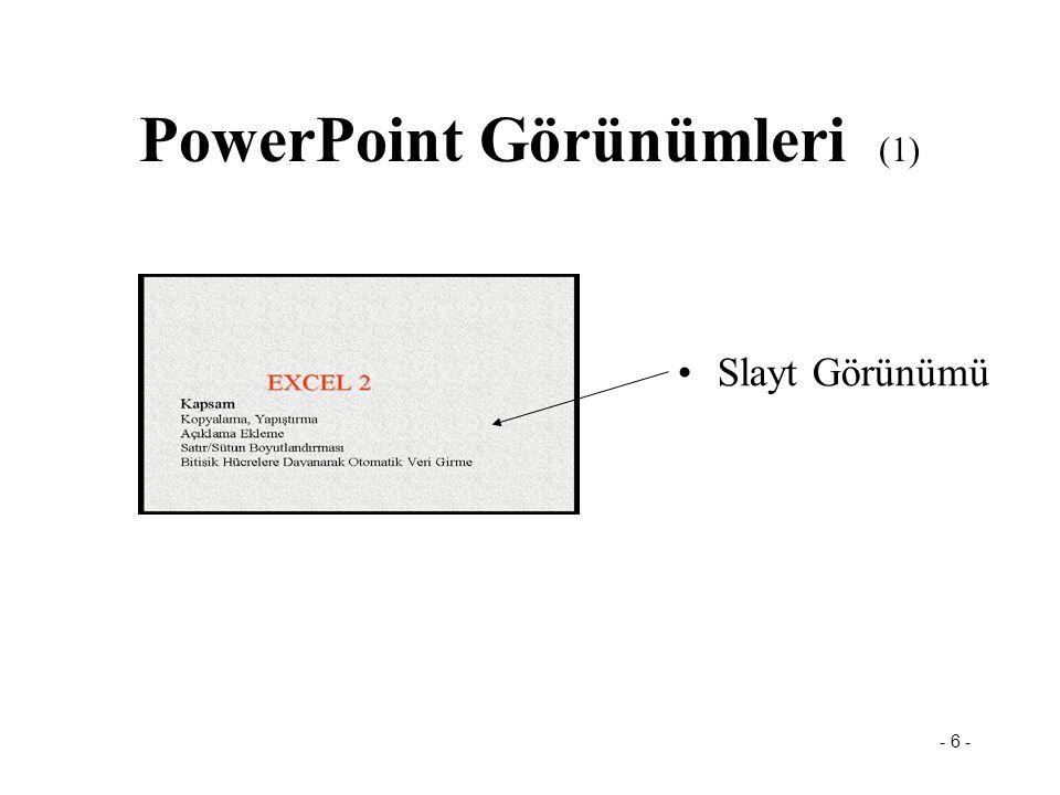PowerPoint Görünümleri (1)