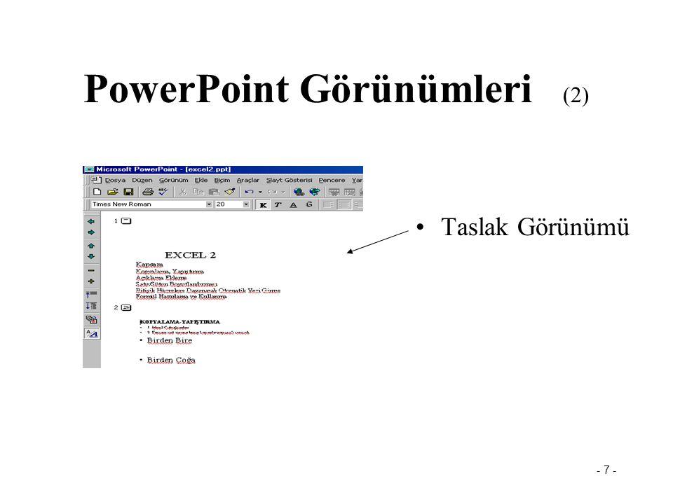 PowerPoint Görünümleri (2)