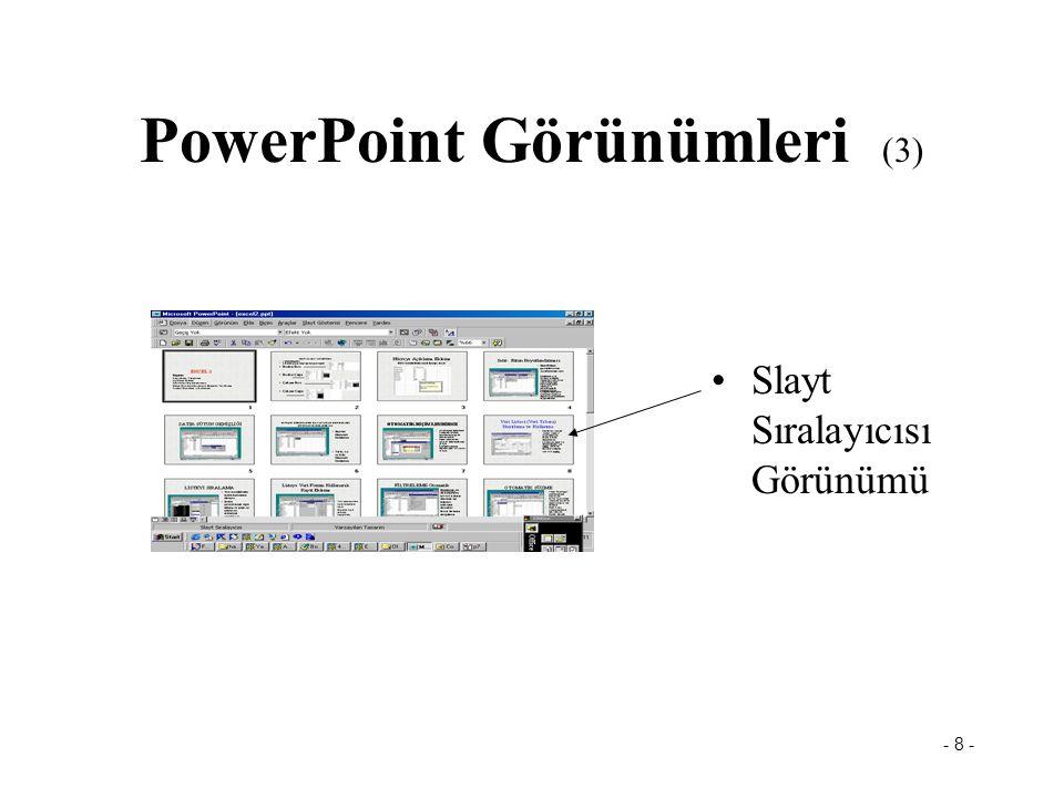 PowerPoint Görünümleri (3)