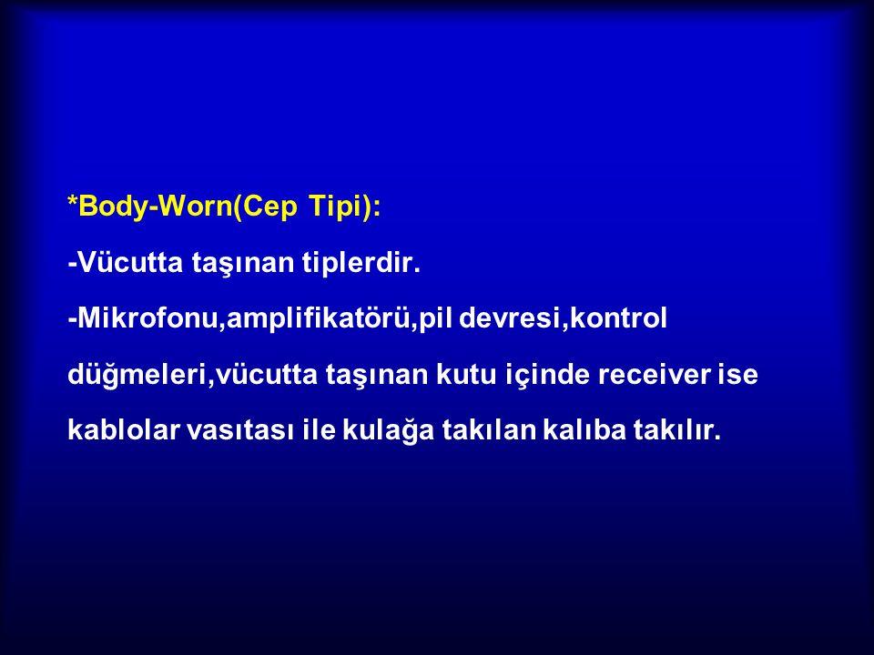 *Body-Worn(Cep Tipi):