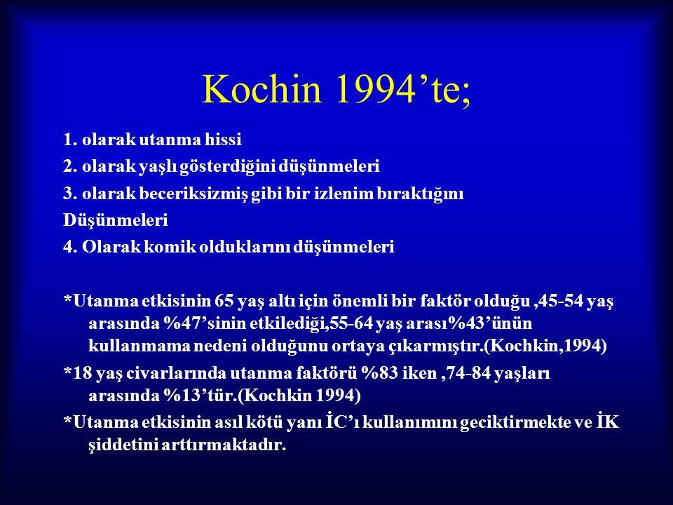 Kochin 1994'te; 1. olarak utanma hissi