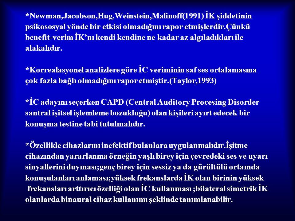 *Newman,Jacobson,Hug,Weinstein,Malinoff(1991) İK şiddetinin