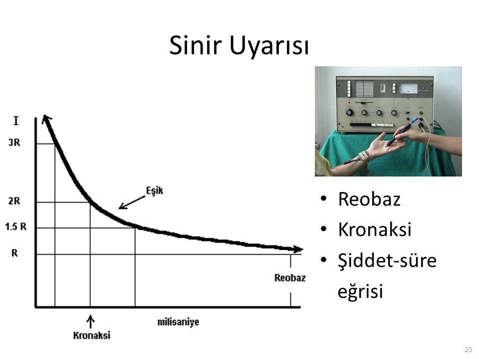 Sinir Uyarısı Reobaz Kronaksi Şiddet-süre eğrisi S.Karamürsel (2009)