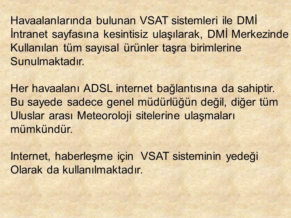 Havaalanlarında bulunan VSAT sistemleri ile DMİ