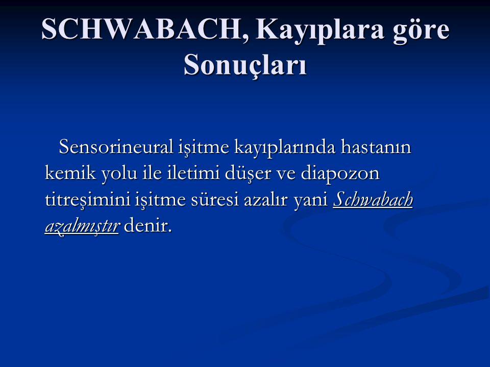 SCHWABACH, Kayıplara göre Sonuçları