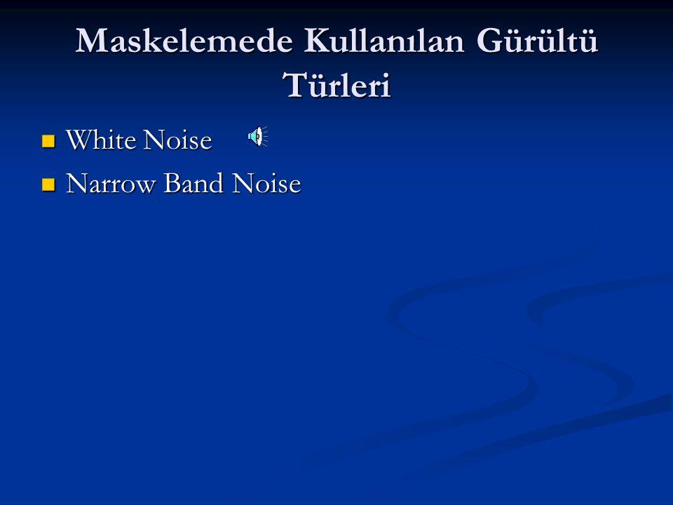 Maskelemede Kullanılan Gürültü Türleri