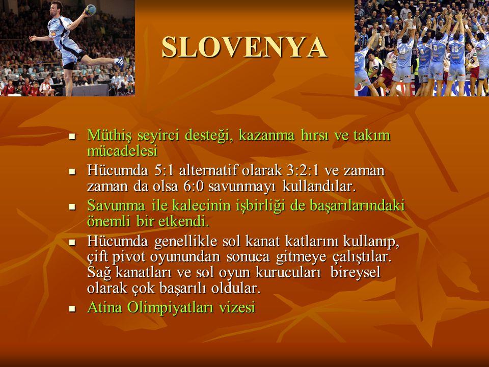 SLOVENYA Müthiş seyirci desteği, kazanma hırsı ve takım mücadelesi