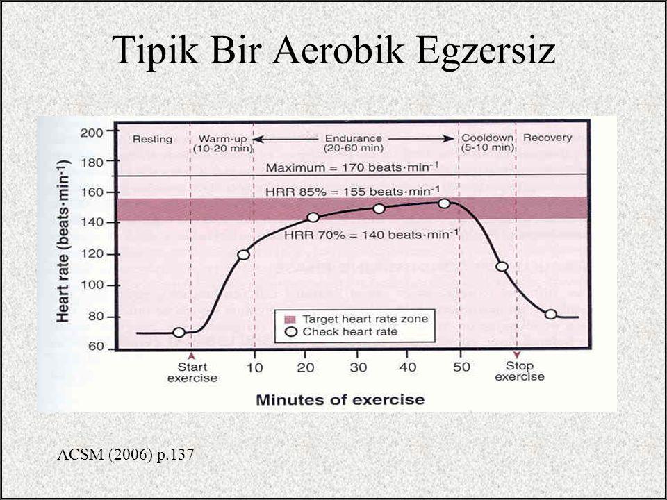Tipik Bir Aerobik Egzersiz
