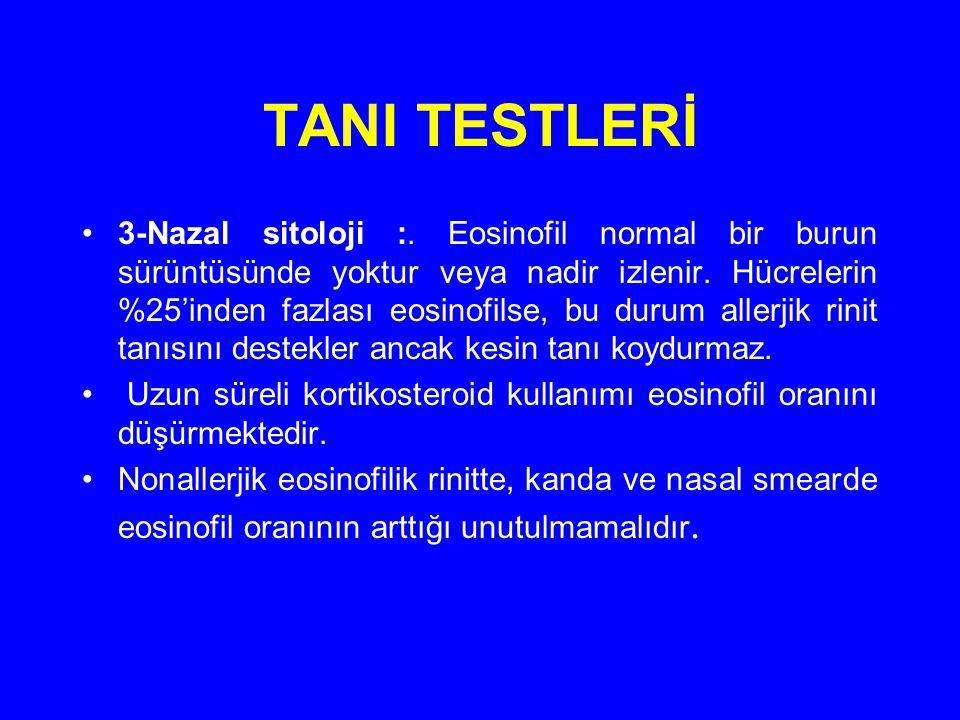 TANI TESTLERİ