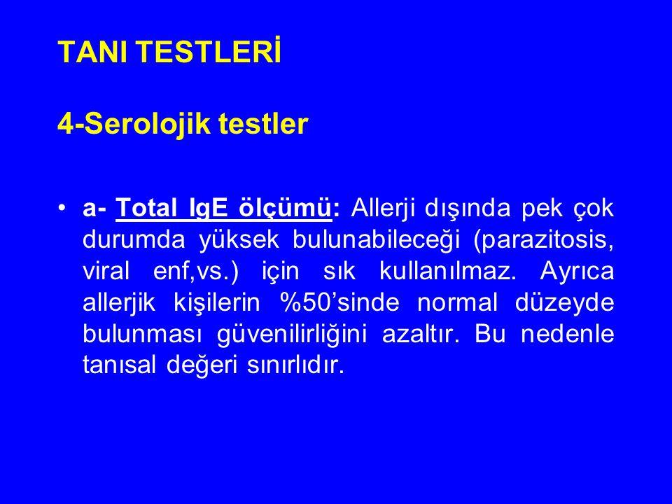 TANI TESTLERİ 4-Serolojik testler