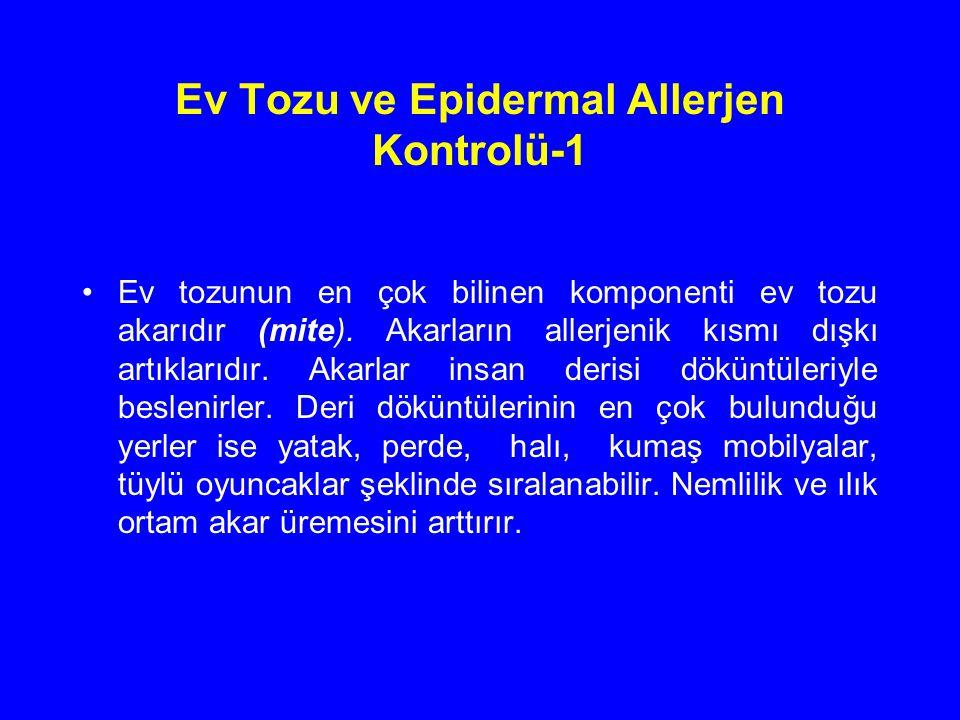 Ev Tozu ve Epidermal Allerjen Kontrolü-1
