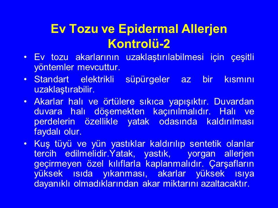 Ev Tozu ve Epidermal Allerjen Kontrolü-2