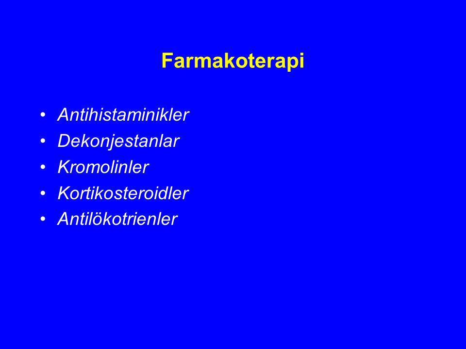 Farmakoterapi Antihistaminikler Dekonjestanlar Kromolinler