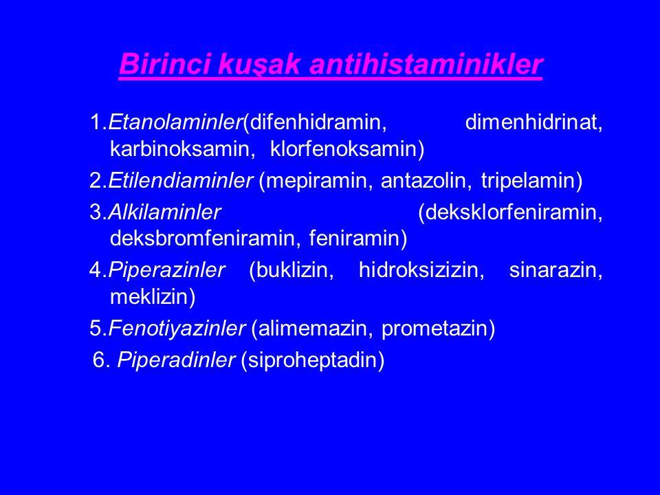Birinci kuşak antihistaminikler