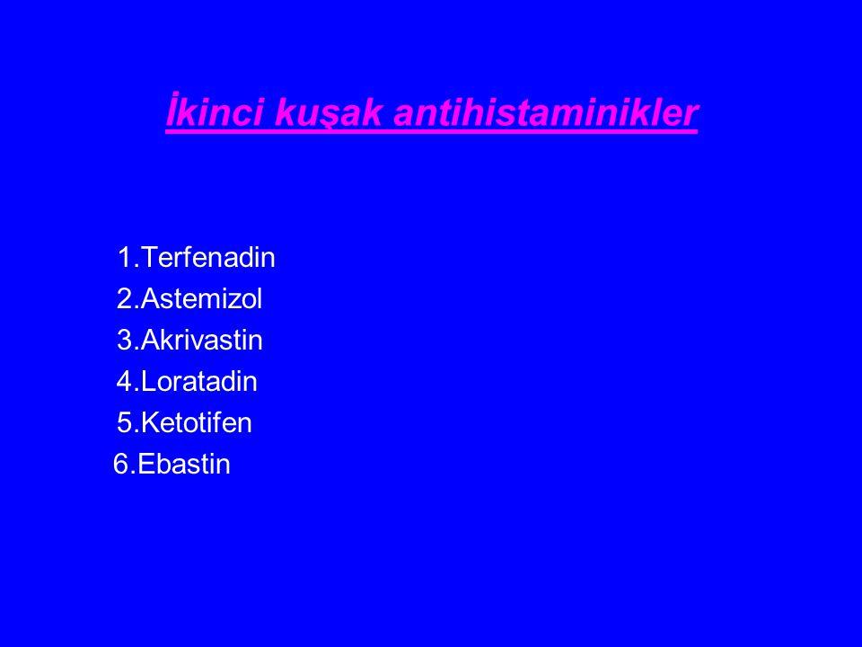 İkinci kuşak antihistaminikler