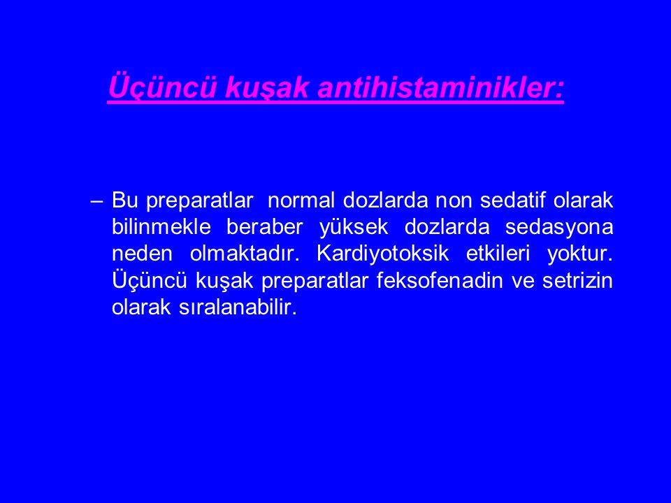 Üçüncü kuşak antihistaminikler: