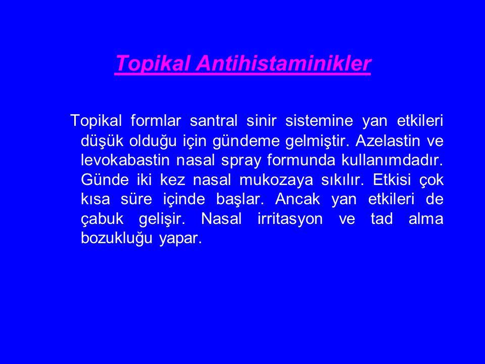 Topikal Antihistaminikler