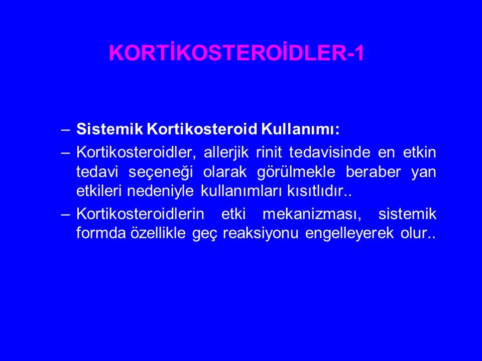 KORTİKOSTEROİDLER-1 Sistemik Kortikosteroid Kullanımı: