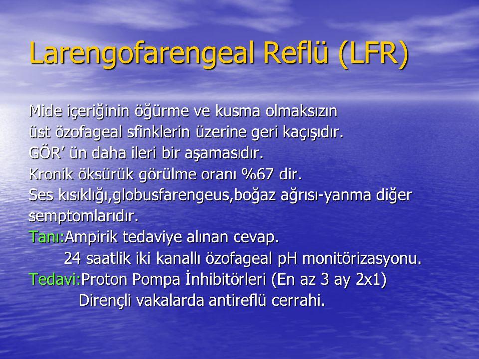 Larengofarengeal Reflü (LFR)