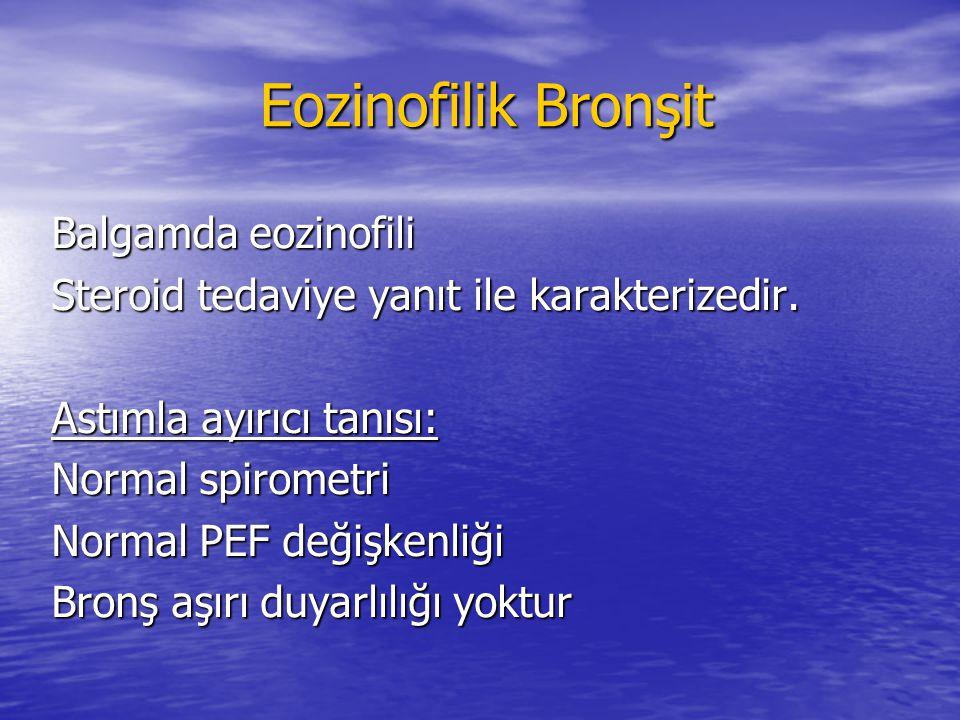 Eozinofilik Bronşit Balgamda eozinofili