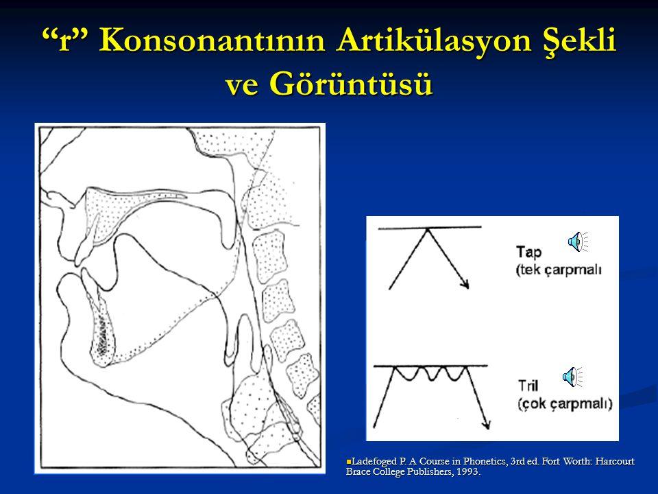 r Konsonantının Artikülasyon Şekli ve Görüntüsü