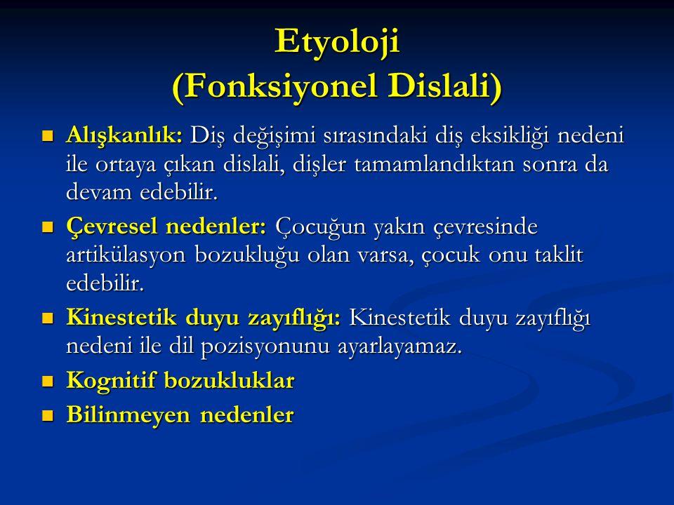 Etyoloji (Fonksiyonel Dislali)