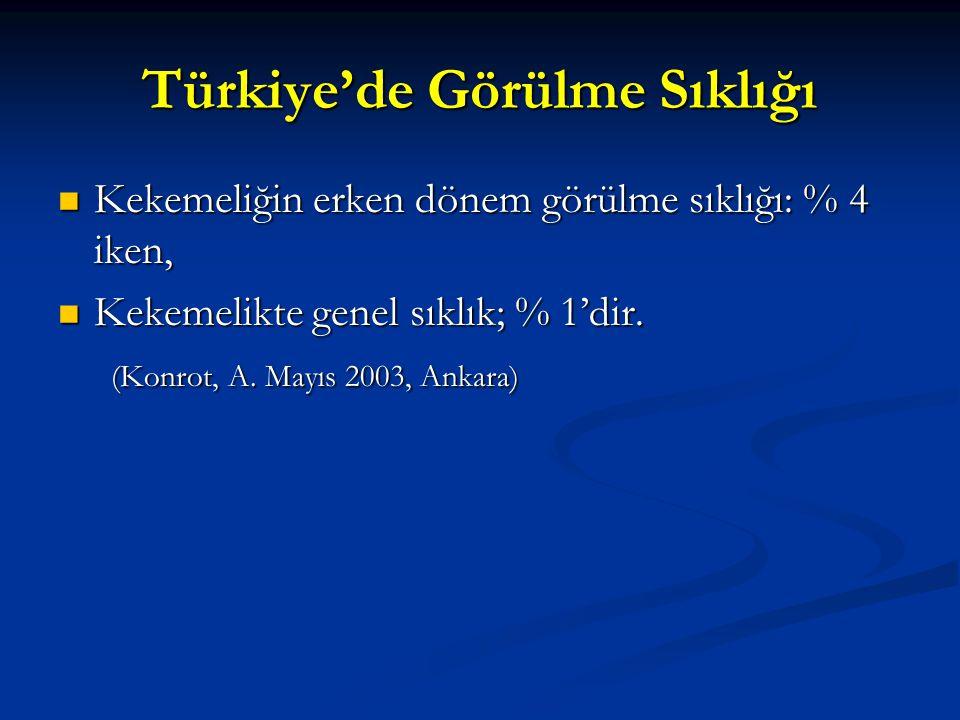 Türkiye'de Görülme Sıklığı