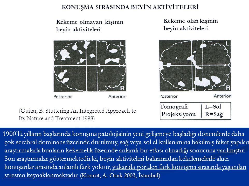 stresten kaynaklanmaktadır. (Konrot, A. Ocak 2003, İstanbul)