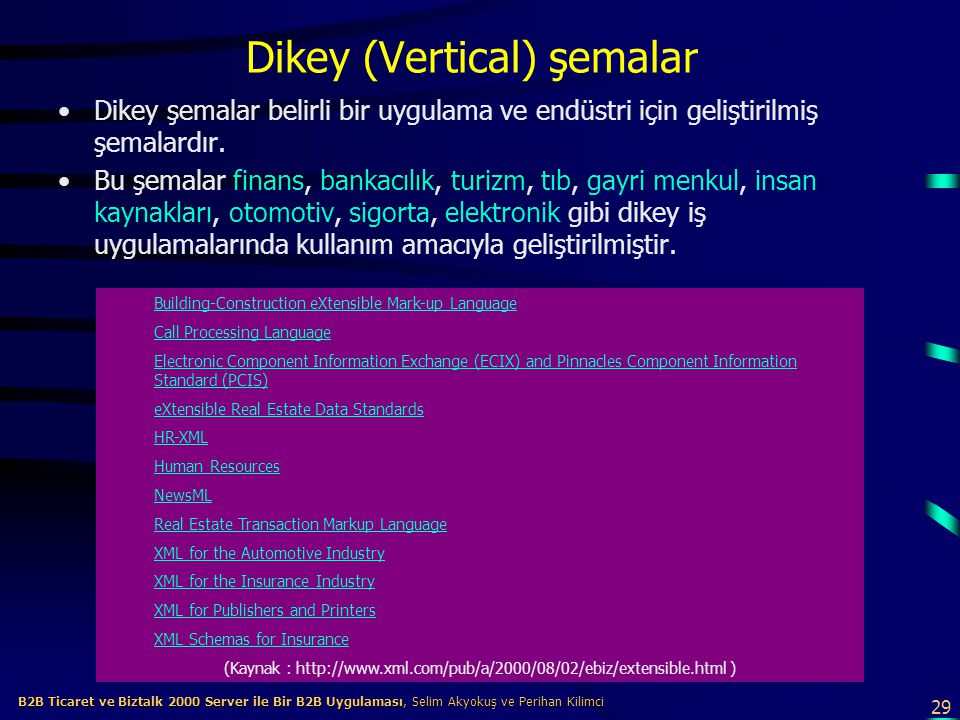 Dikey (Vertical) şemalar