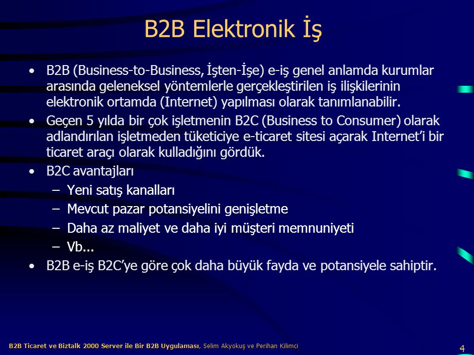 B2B Elektronik İş