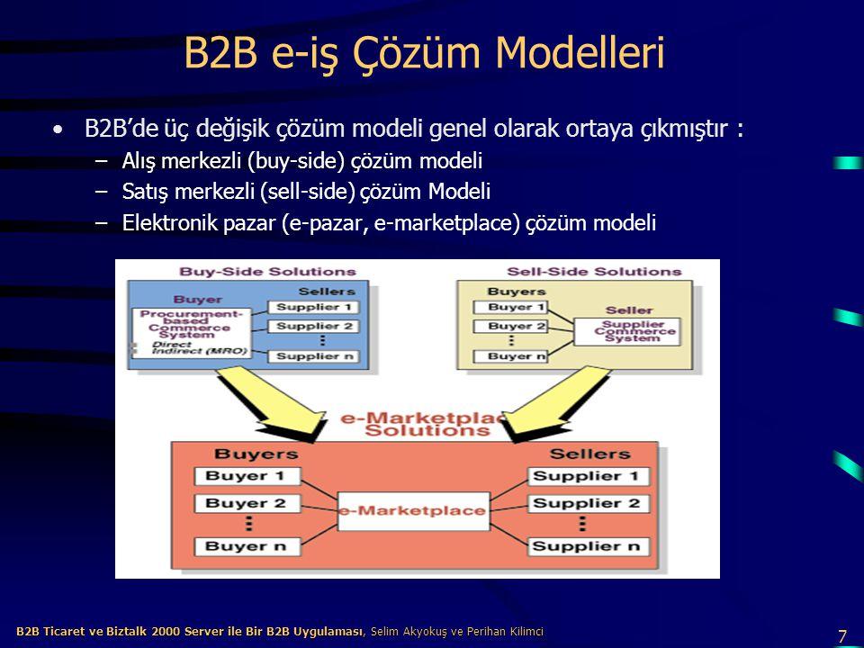 B2B e-iş Çözüm Modelleri
