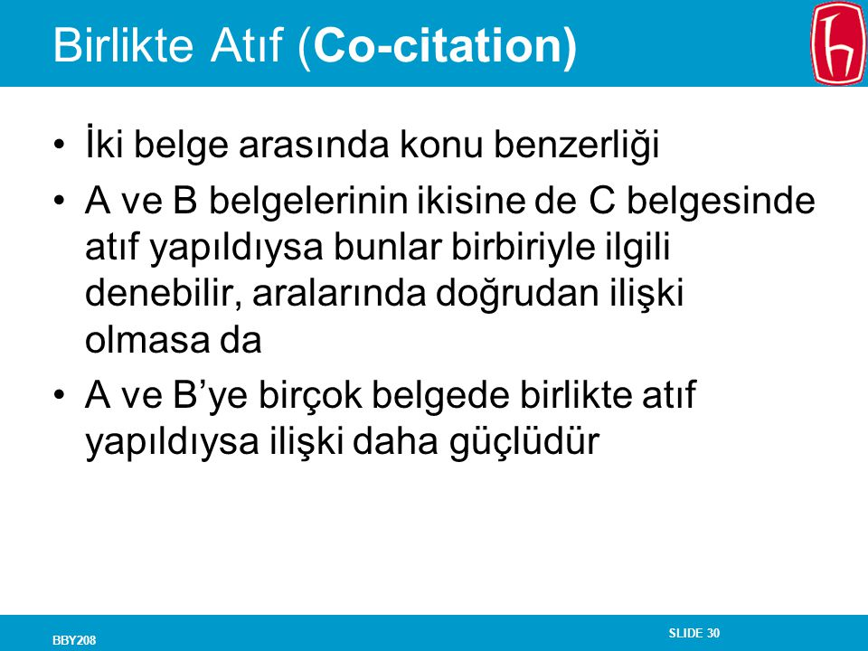 Birlikte Atıf (Co-citation)