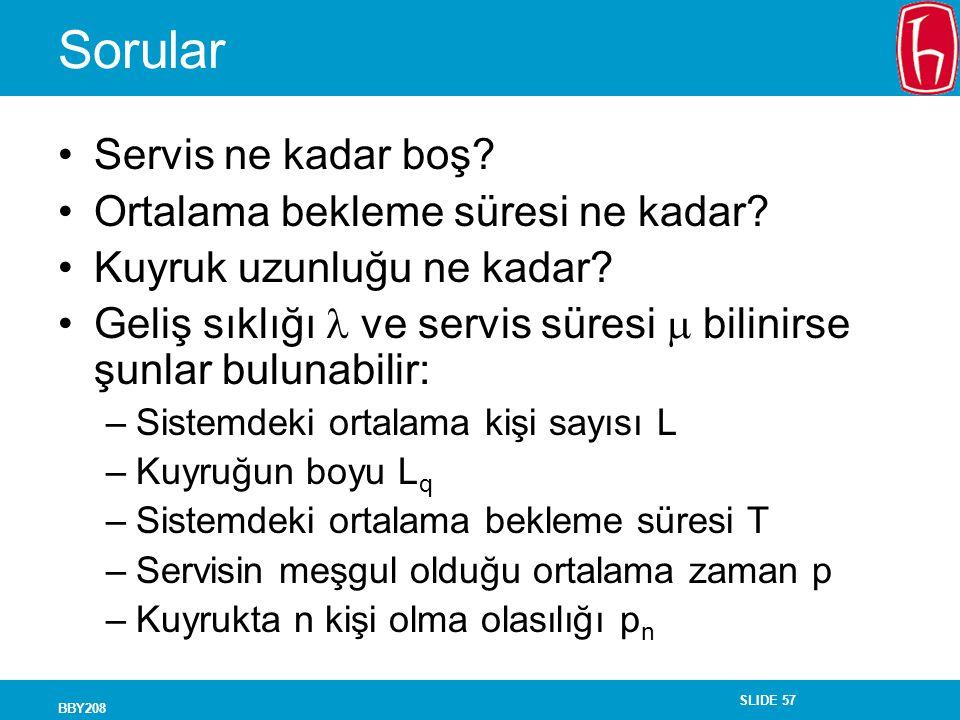 Sorular Servis ne kadar boş Ortalama bekleme süresi ne kadar