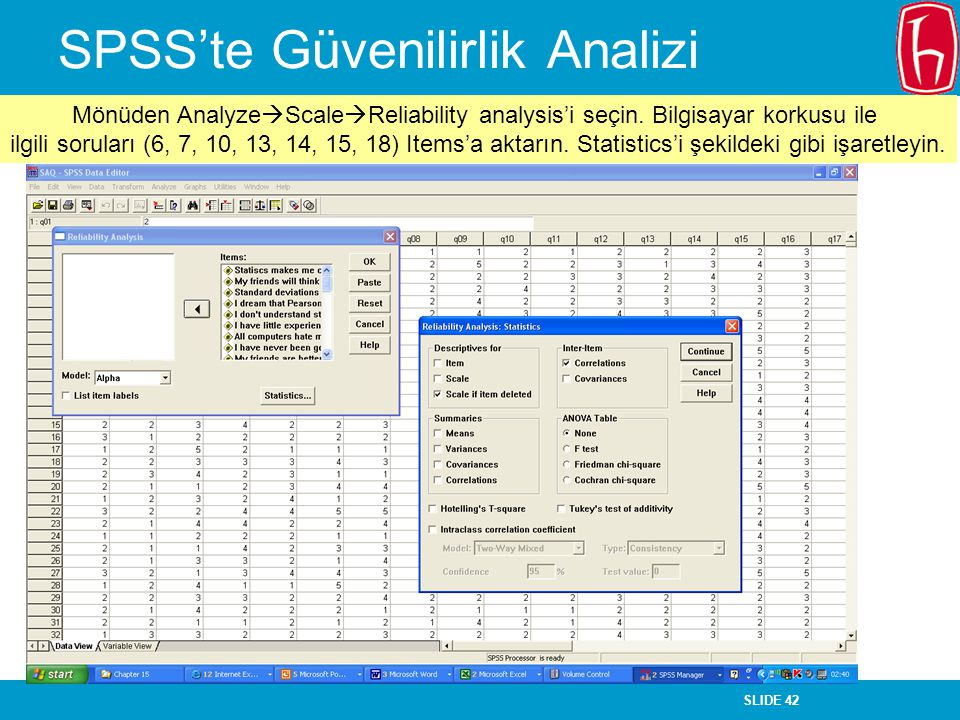 SPSS'te Güvenilirlik Analizi