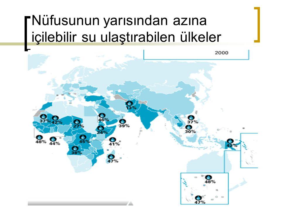 Nüfusunun yarısından azına içilebilir su ulaştırabilen ülkeler