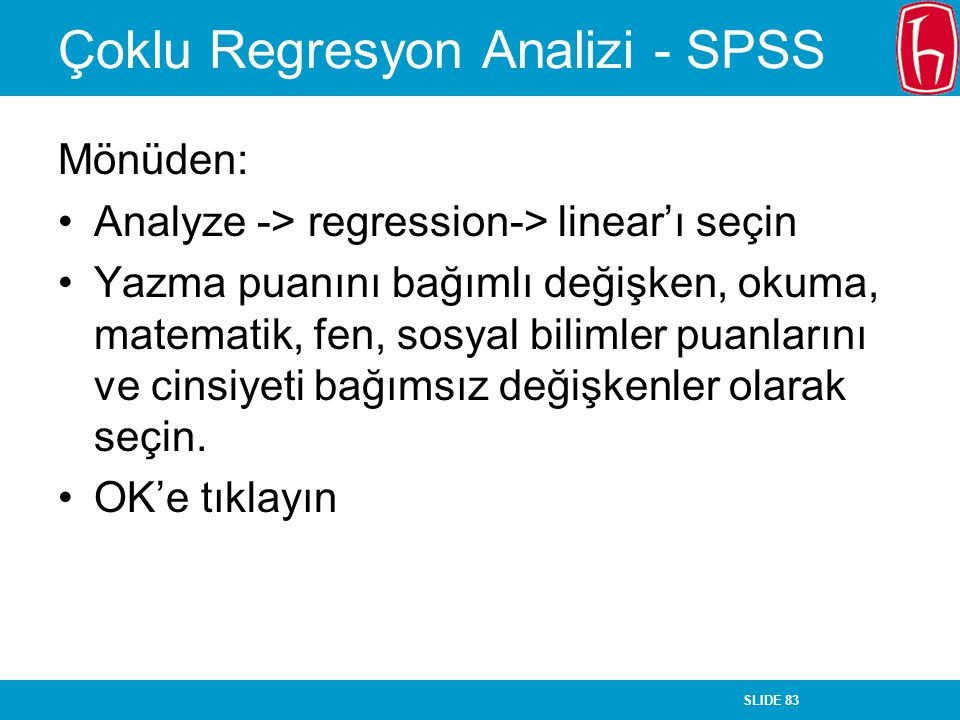 Çoklu Regresyon Analizi - SPSS