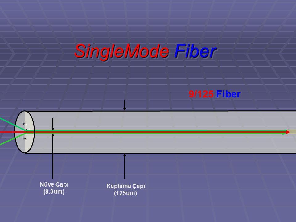 SingleMode Fiber 9/125 Fiber Kaplama Çapı (125um) Nüve Çapı (8.3um)