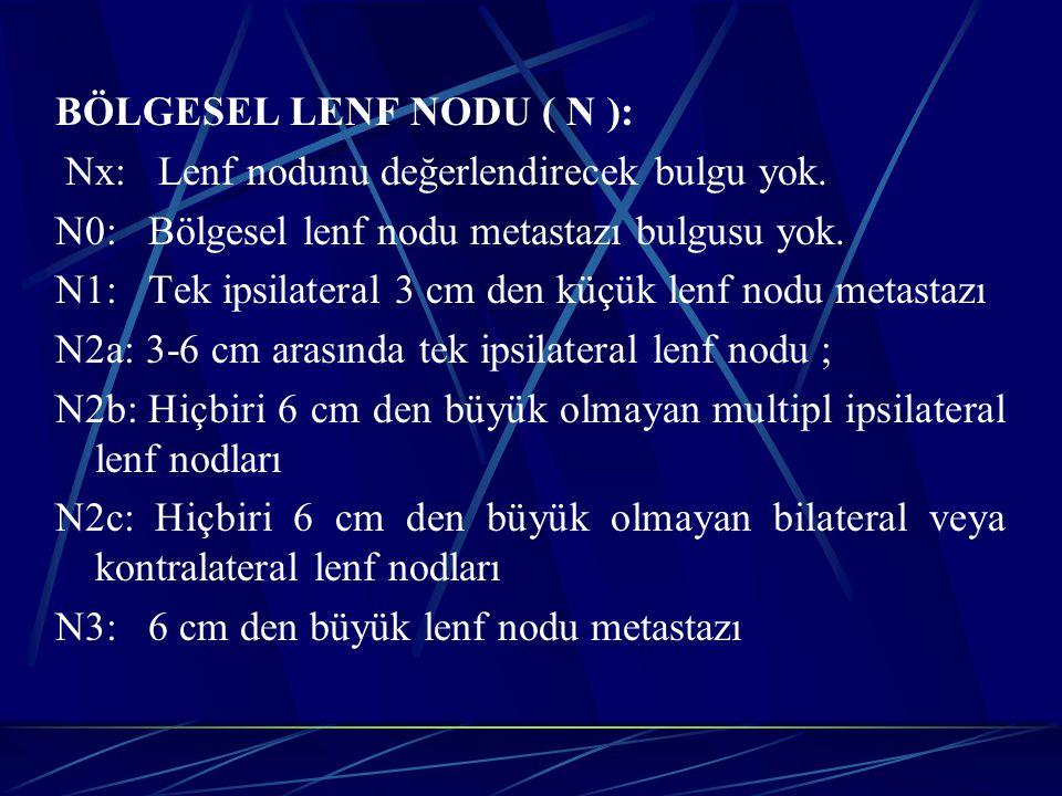 BÖLGESEL LENF NODU ( N ):
