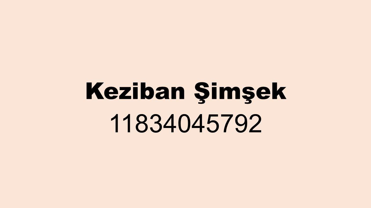 Keziban Şimşek 11834045792