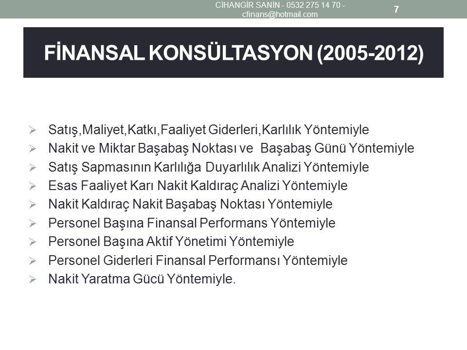 FİNANSAL KONSÜLTASYON (2005-2012)