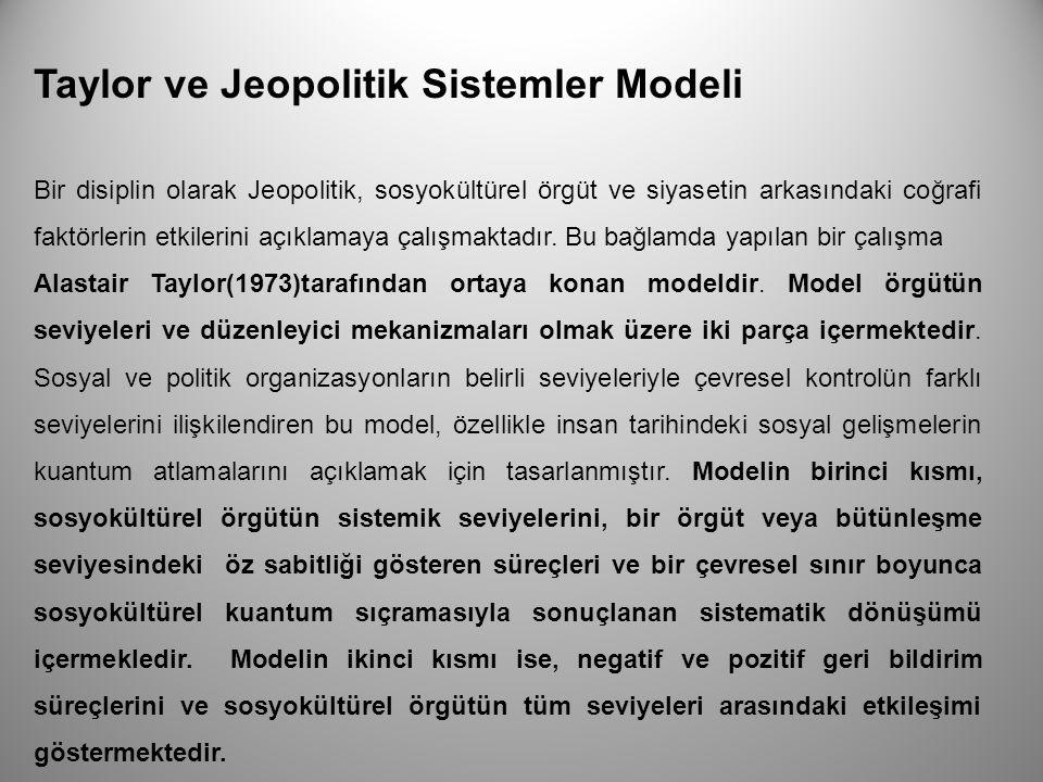 Taylor ve Jeopolitik Sistemler Modeli