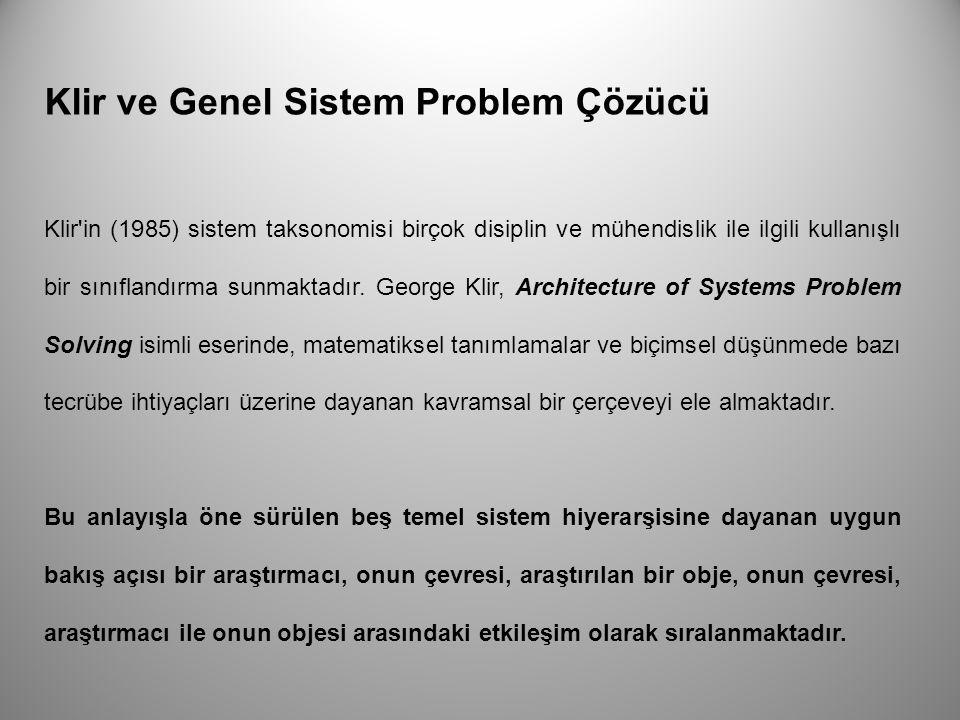 Klir ve Genel Sistem Problem Çözücü