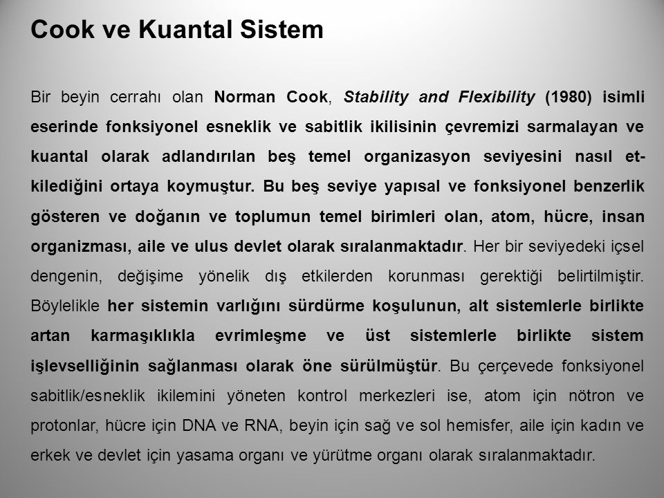 Cook ve Kuantal Sistem