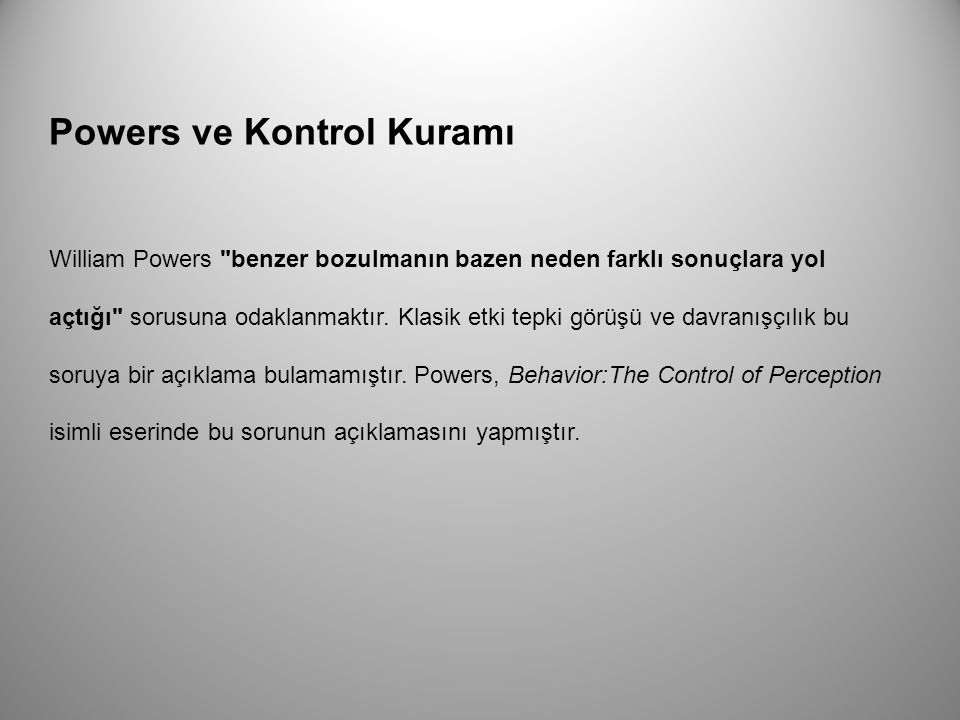 Powers ve Kontrol Kuramı