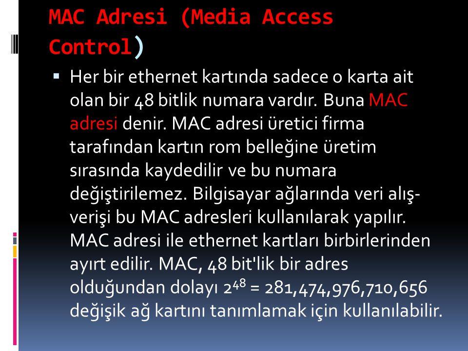 MAC Adresi (Media Access Control)