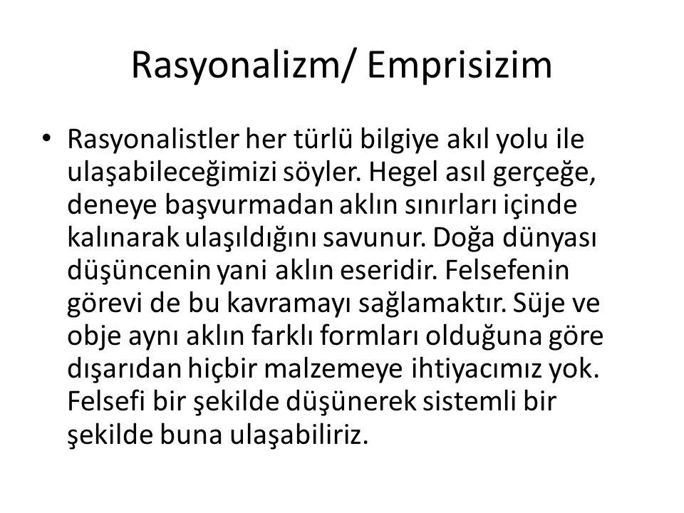 Rasyonalizm/ Emprisizim
