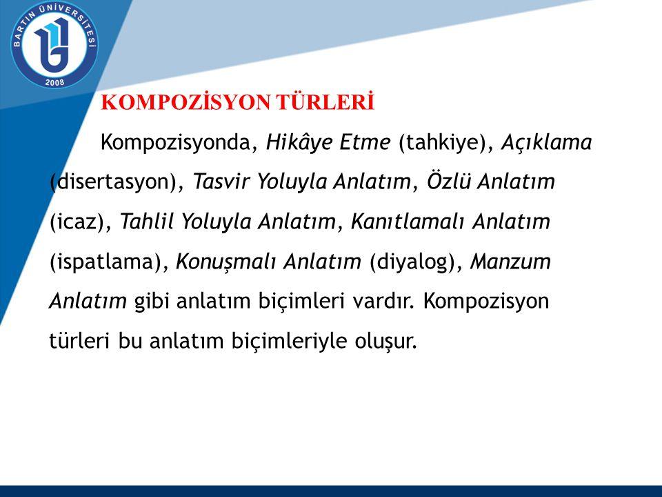 KOMPOZİSYON TÜRLERİ