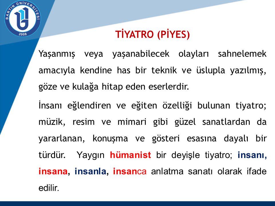 TİYATRO (PİYES)